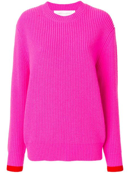 Victoria Victoria Beckham jumper women wool purple pink sweater