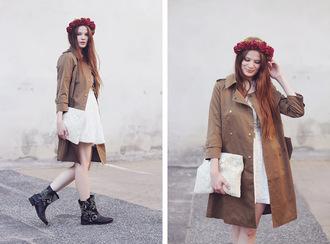 dress bag shoes coat a pretty pass flower crown
