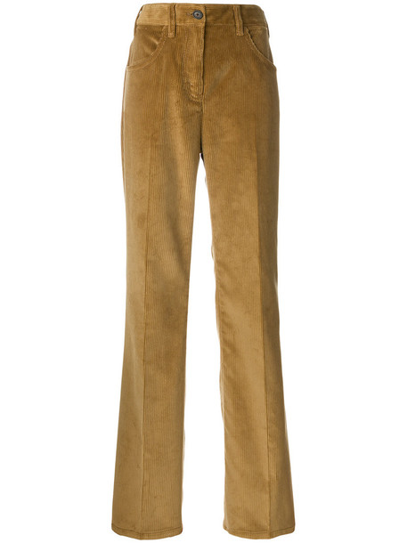Prada women cotton brown pants