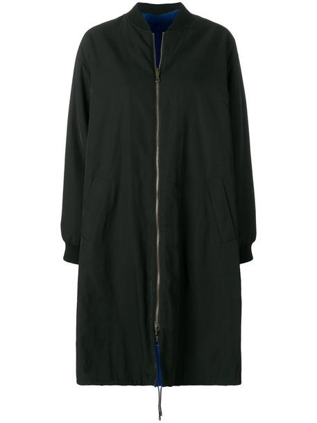 Army Yves Salomon coat fur women cotton black