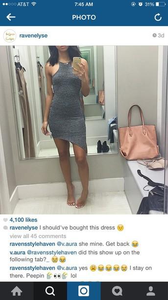 dress grey ravenelyse asymmetrical dress asymmetrical skirt