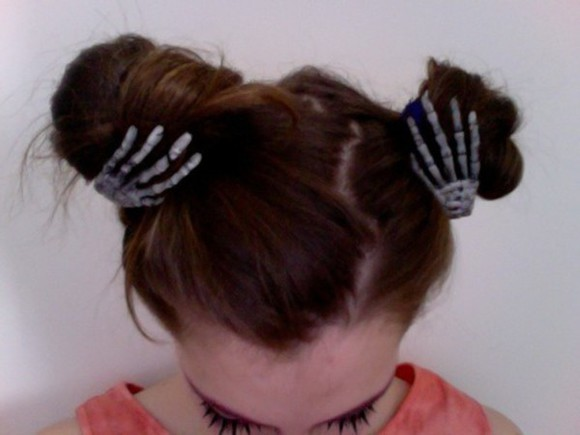 skull bones halloween hairstyles pale brunette atropina bones jewelry hairstyles pale division pale grunge hair accessories