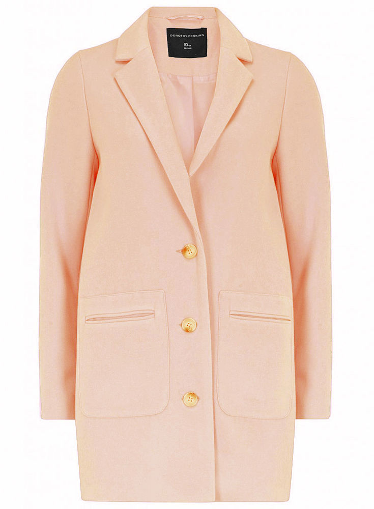 £69 d p blush pink boyfriend jacket blazer coat 8 10 12 14 16 18 20 new celeb