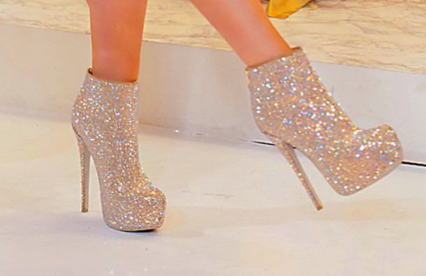 7f340825fe48 shoes heels booti sparkle sparkle glitter party shoes girly high heels  boots higheals booties bedazzled gold