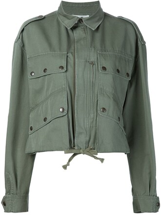 jacket cropped green