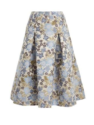 skirt midi skirt midi floral white