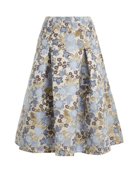 Erdem skirt midi skirt midi floral white