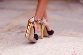 shoes snake high heels fashion