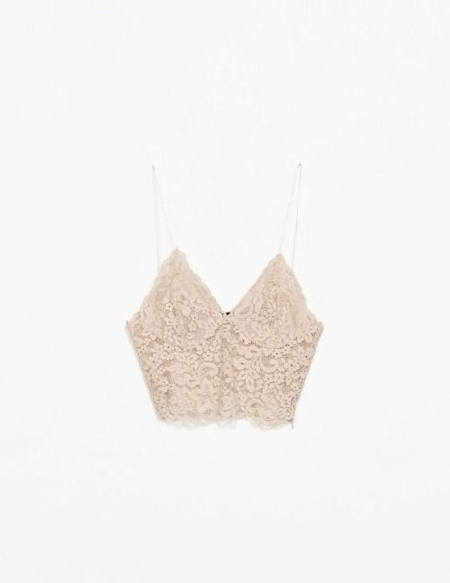 ZARA NUDE BEIGE GUIPERE LACE BRALET CROP TOP CAMISOLE.SOLD OUT. NEW. SIZE MEDIUM | eBay