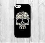 phone cover,black white skull patterns plastic iphone 5c,halloween accessory