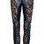 ROMWE | Lace Embellished Dual-tone Black Faux Leather Pants, The Latest Street Fashion