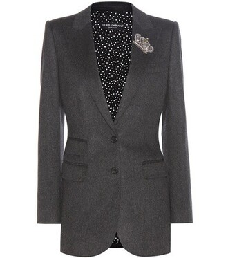 blazer embellished grey jacket