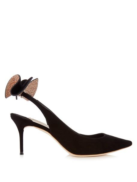 suede pumps bow embellished pumps suede gold black shoes