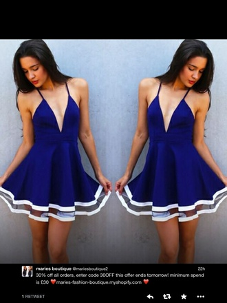 dress sailor dress royal blue dress white dress style summer dress
