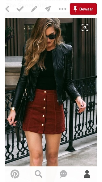 skirt fall outfits fall colors streetstyle button up skirt