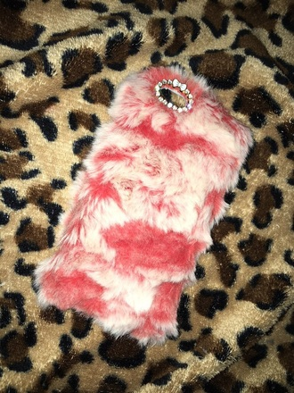 phone cover furry case fluffy fur
