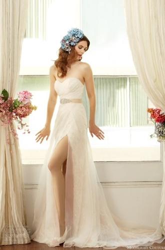 wedding dress white dress empire waist