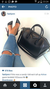 jeans,bags 2014,cropped,ripped,denim,heels,shoes,bag,skinny jeans,givenchy bag