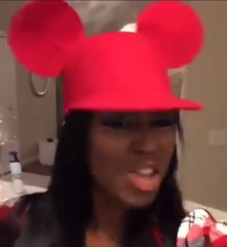 hat mickey mouse cute nice love red fashion