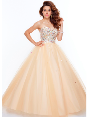 Buy Fantastic Ball Gown Sweetheart Floor Length Prom Dress under 300-SinoAnt.com