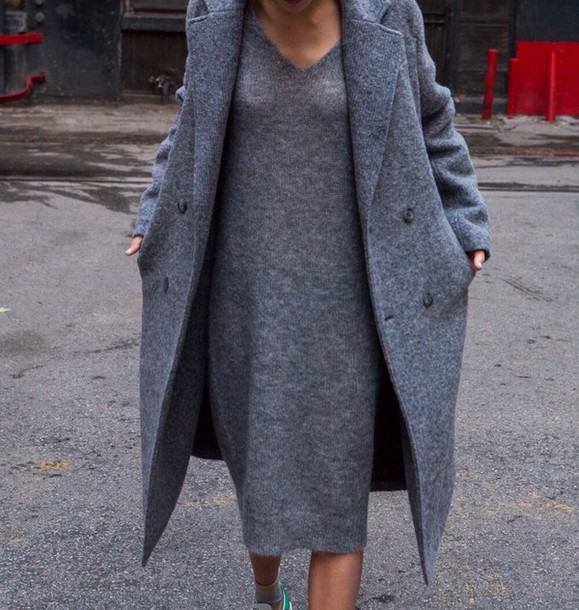 dress grey coat autum style