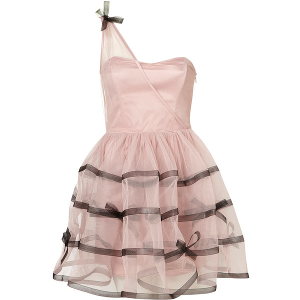 Tape and Bow Skirt Prom Dress by Dress Up Topshop** - Polyvore