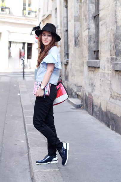elodie in paris blogger top bag