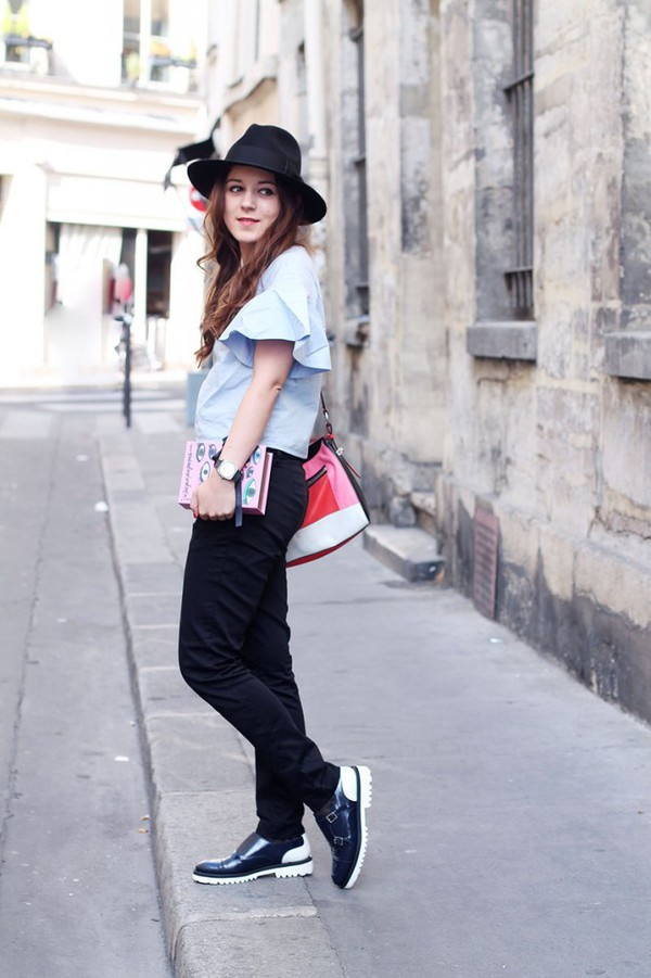 elodie in paris blogger top bag