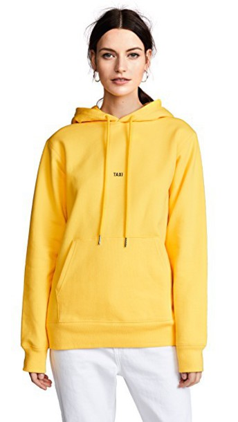 Helmut Lang hoodie yellow sweater