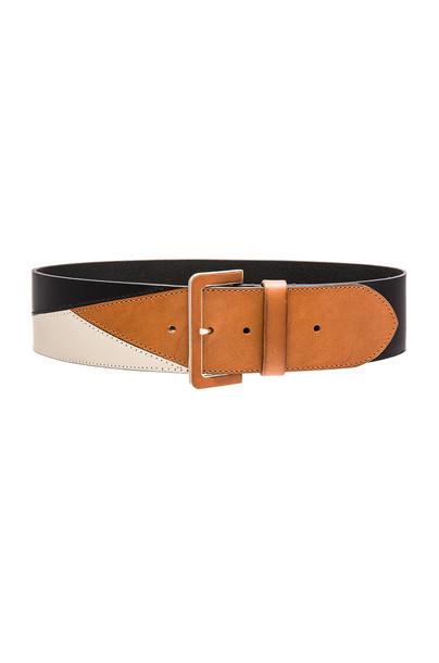 Linea Pelle colorblock belt black