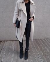 mango,zara,black and white,leather pants,style,white coat,grey coat