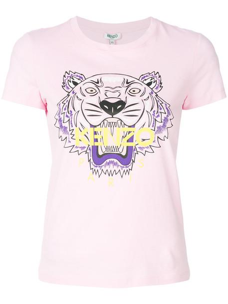 Kenzo t-shirt shirt t-shirt women tiger cotton purple pink top