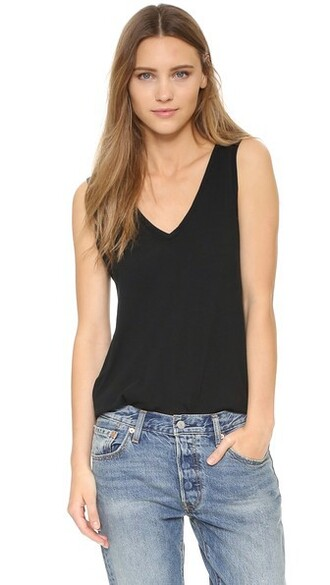 cotton black top