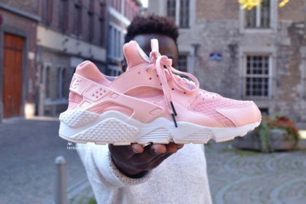 shoes pink sneakers low top sneakers huarache urban pastel pink nike pastel pink rose nike air
