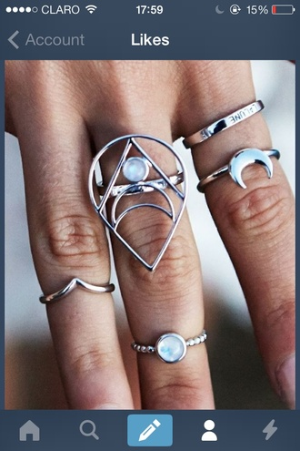 jewels ring gold rings silver rings big rings gold midi rings cute so awesome crop tops tank top dress style fashion knuckle ring two finger ring boho indie hippie hipster gypsy