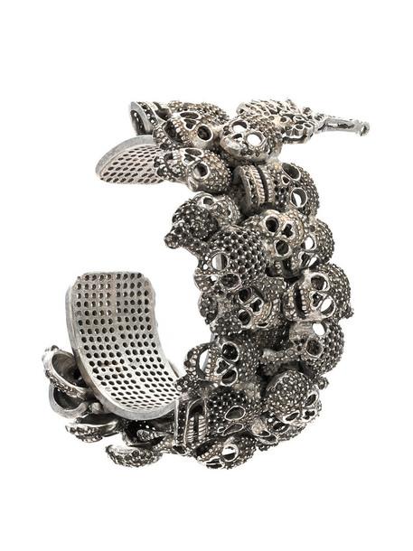 women embellished grey copper metallic jewels