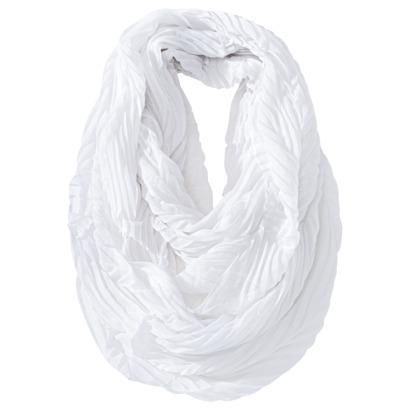Merona® Solid Crinkle Infinity Scarf - White : Target