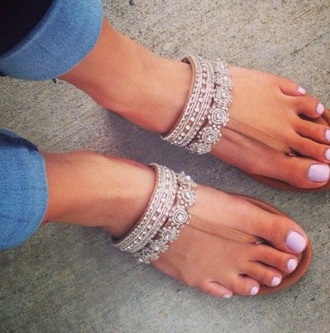 shoes nude sandals sparkly shoes top #classy #summer #white #girly