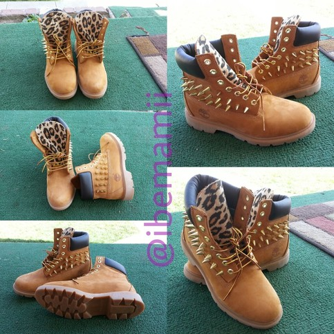 Spiked leopard print timberlands · ihawaii  · online store powered by storenvy
