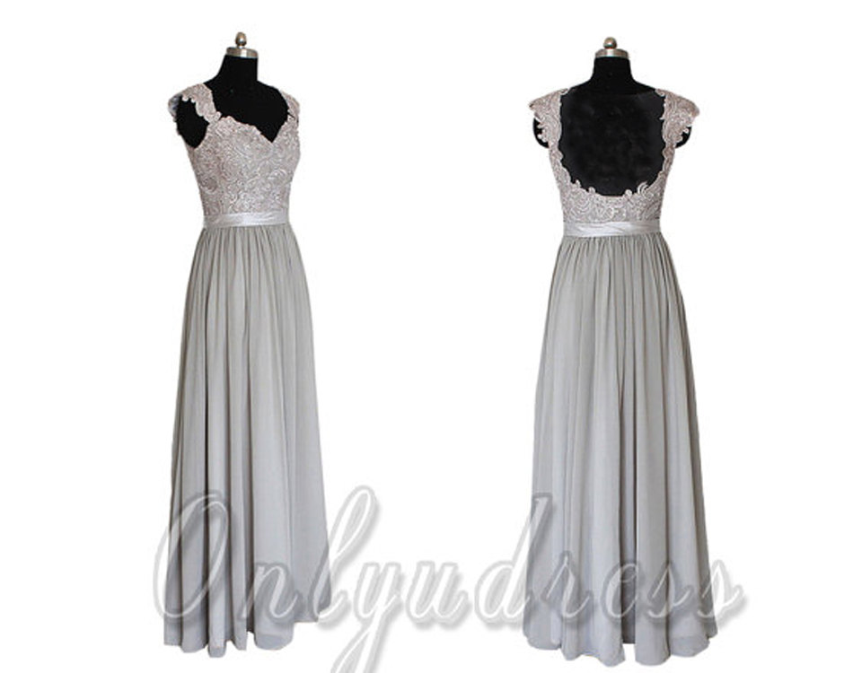 Grey bridesmaid dresses long chiffon bridesmaids dress for Summer dresses for wedding party