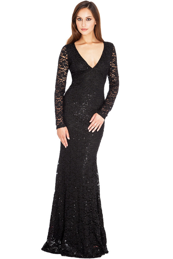 sequins maxi evening outfits amazing stylish elegant long sleeves party special occasion opulent