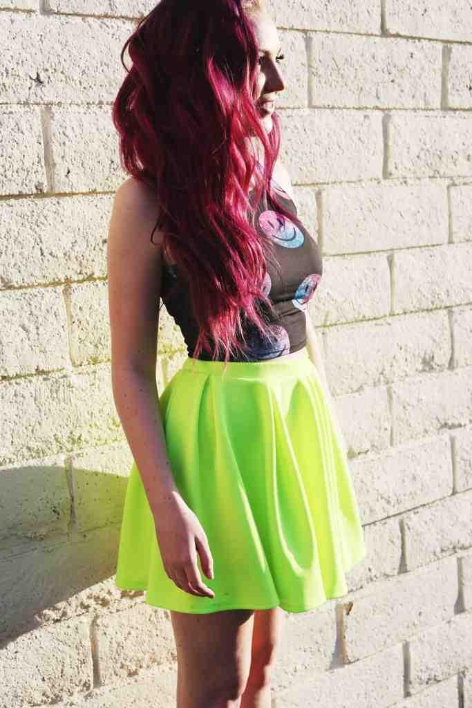 Skater Skirt Black & Yellow | District Apparel