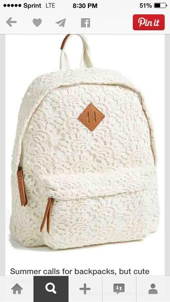 bag school bag backpack lace