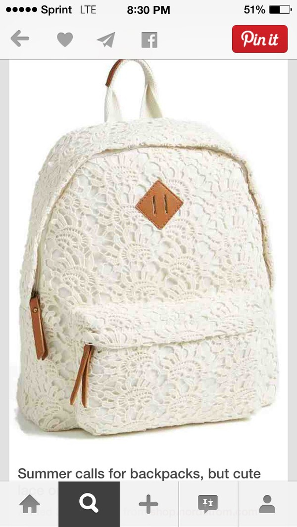bag school bag backpack lace