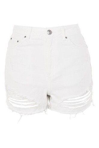 shorts ripped white