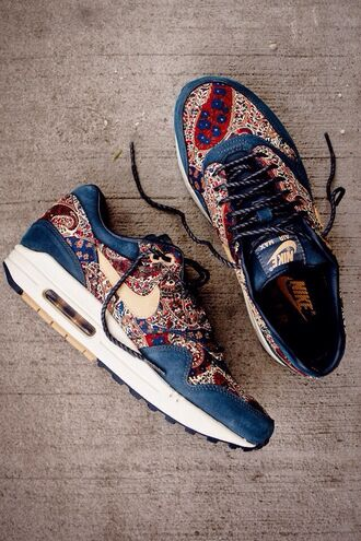 nike air nike nike sneakers burgundy shoes paisley oriental print unisex fall accessories shoes air max sneakers nike patterned air max's