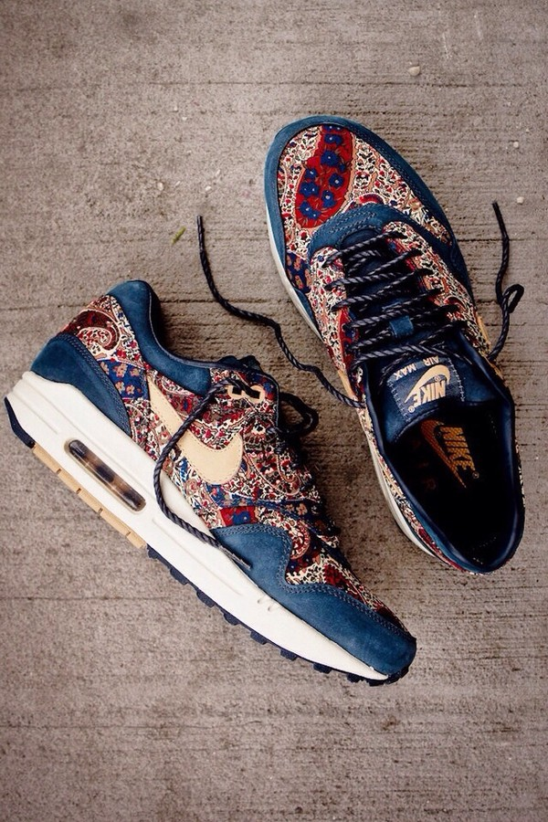 nike wmns air max 1 qs liberty - armory navy tan