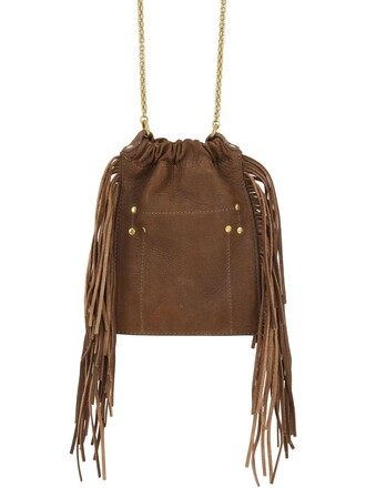 embroidered bag leather bag leather brown