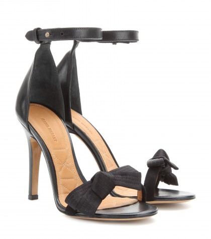 mytheresa.com -  Play satin and leather sandals - High heel - Sandals - Shoes - Luxury Fashion for Women / Designer clothing, shoes, bags
