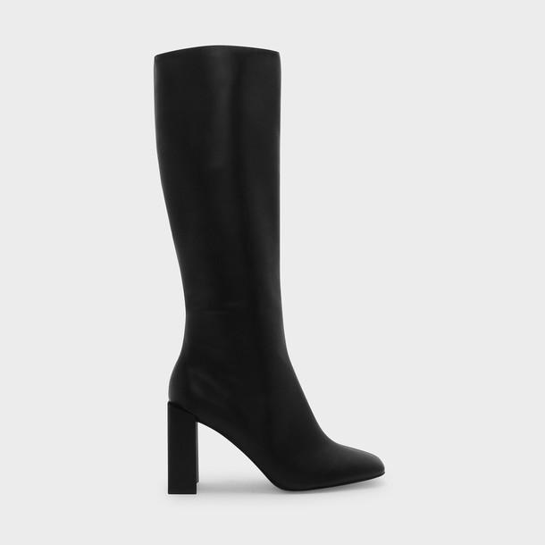 boot heels black shoes